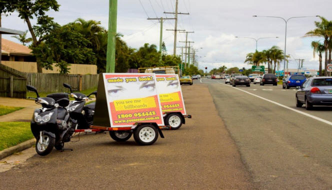you see me youseeme mobile advertising billboards sunshine coast